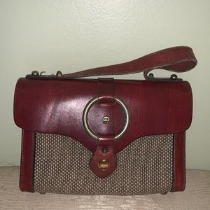 Vintage EtienneAignerHandmade Oxbloodtweed Handbag